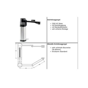 Bauer Drehtorantrieb Set E5 2-flüglig