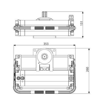 BFT Electro-Mechanischer Drehtorantrieb Underground Kit