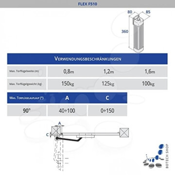 CAME Drehtorantrieb FLEX 510/1 (Set S) - 2