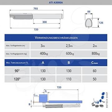 CAME Drehtorantrieb MONOJET (Set XL) - 2