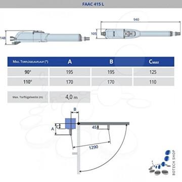 Drehtorantrieb FAAC 415 L - 2