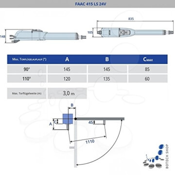 Drehtorantrieb FAAC 415 LS 24V - 2