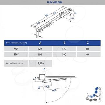 Drehtorantrieb FAAC 422 CBC - 2
