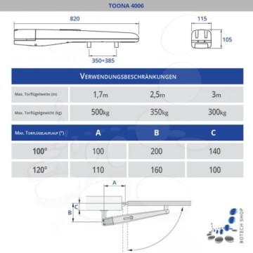 Drehtorantrieb NICE TOONA 4006/2 (Set S)