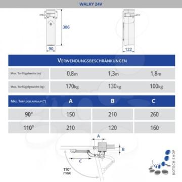 Drehtorantrieb NICE WALKY 1024/1 (Set M)