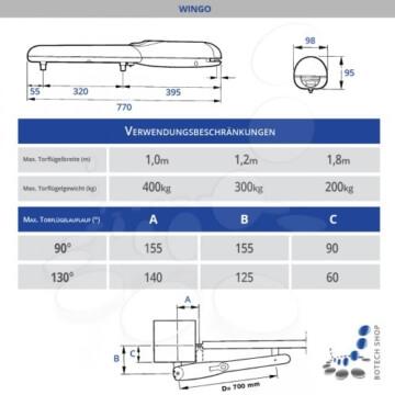 Drehtorantrieb NICE WINGO/2 (Set XL)