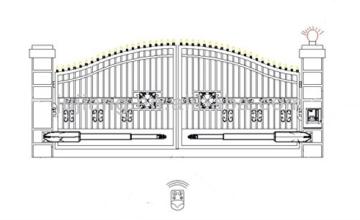 Drehtorantrieb Set für zweiflügelige Tore